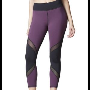 Luxury MICHI plum/black sheer details leggings